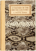 Books:Biography & Memoir, J. Frank Dobie. INSCRIBED. A Vaquero of the Brush County.Dallas: Southwest Press, 1929. First edition. Inscribed ...