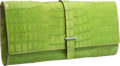 "Luxury Accessories:Bags, Tumi Green Crocodile Leather Clutch Bag . Very GoodCondition. 12"" Width x 6"" Height x 1"" Depth . CITEScomplian..."