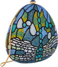 "Luxury Accessories:Bags, Judith Leiber Full Bead Blue & Green Crystal DragonflyMinaudiere Evening Bag. Very Good to Excellent Condition. 5""Width ..."