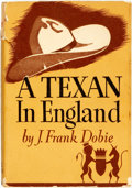 Books:Biography & Memoir, J. Frank Dobie. INSCRIBED. A Texan in England. Boston:Little, Brown, 1945. First edition. Inscribed by the author...