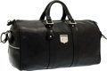 "Luxury Accessories:Travel/Trunks, Kieselstein Cord Black Leather Travel Bag. Very GoodCondition. 20"" Width x 10"" Height x 8.5"" Depth. ..."