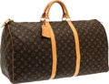"Luxury Accessories:Bags, Louis Vuitton Classic Monogram Canvas Keepall 60 Weekender Bag. Very Good Condition. 24"" Width x 13"" Height x 11"" Dept..."