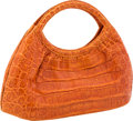 "Luxury Accessories:Bags, Nancy Gonzalez Orange Crocodile Handle Bag. Very Good toExcellent Condition. 11"" Width x 8"" Height x 3"" Depth...."