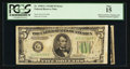 Error Notes:Obstruction Errors, Fr. 1958-G $5 1934B Federal Reserve Note. PCGS Fine 15.. ...