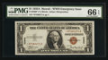 Small Size:World War II Emergency Notes, Fr. 2300* $1 1935A Hawaii Silver Certificate. PMG Gem Uncirculated66 EPQ.. ...