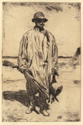 Fine Art - Work on Paper:Print, FRANK WESTON BENSON (American, 1862-1951). Old Tom, 1926.Etching . 14-7/8 x 9-7/8 inches (37.8 x 25.1 cm) (plate). Sign...