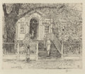 Prints, CHILDE HASSAM (American, 1859-1935). The Chase House, Annapolis, 1929. Etching . 7-3/4 x 9 inches (19.7 x 22.9 cm) (sigh...
