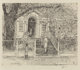 CHILDE HASSAM (American, 1859-1935) The Chase House, Annapolis, 1929 Etching 7-3/4 x 9 inches (19.7 x 22.9 cm) (sigh