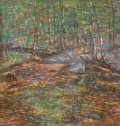 Fine Art - Work on Paper:Drawing, CHARLES SALIS KAELIN (American, 1858-1929). Trees and Rocks.Pastel on paper. 16-1/2 x 16 inches (41.9 x 40.6 cm). Signe...