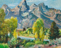 Fine Art - Painting, American:Contemporary   (1950 to present)  , PAUL BRANSOM (American, 1885-1979). Jackson Hole, Wyoming,1962. Oil on canvas. 18 x 23 inches (45.7 x 58.4 cm). Signed,...