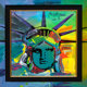 PETER MAX (American, b. 1937) Liberty Head, 1991 Acrylic on canvas 12 x 12 inches (30.5 x 30.5 cm) Signed upper righ