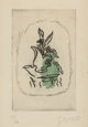 GEORGES BRAQUE (French, 1882-1963) Bouquet Vert, 1951 Etching in colors 7-1/4 x 4-1/2 inches (18.4 x 11.4 cm) (plate)