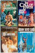 Books:Science Fiction & Fantasy, Orson Scott Card. SIGNED. Group of Four First Editions. New York: TOR, [various dates]. Three are signed by the author. ... (Total: 4 Items)