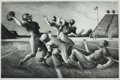 Fine Art - Work on Paper:Print, THOMAS HART BENTON (American, 1889-1975). Forward Pass,1972. Lithograph. 12-3/4 x 19-3/4 inches (32.4 x 50.2 cm). Ed. 2...