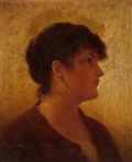 Fine Art - Painting, American:Antique  (Pre 1900), WALTER BLACKMAN (American, 1847-1928). Portrait of an ItalianWoman. Oil on canvas. 18 x 15 inches (45.7 x 38.1 cm). Sig...