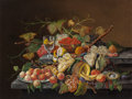 Fine Art - Painting, European:Antique  (Pre 1900), Manner of THOMAS AND WILLIAM WIGHTMAN (American, 19th Century).Table Bounty (Tabletop Still Life), circa 1845. Oil on c...
