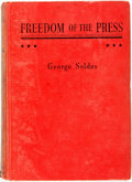 Books:Americana & American History, George Seldes. Freedom of the Press. New York: Garden City,[1937]. Later edition. Original cloth binding. Spine sun...
