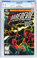 Modern Age (1980-Present):Superhero, Daredevil #168 (Marvel, 1981) CGC NM 9.4 White pages....