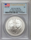 Modern Commemoratives, 2013-W $1 Five-Star Generals, First Strike MS70 PCGS. PCGS Population (696). NGC Census: (180). ...