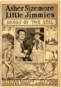 Books:Music & Sheet Music, [Music] Asher Sizemore and Little Jimmie's Songs of theSoil. Laurel, Indiana: Asher and Little Jimmie, 1936. Origin...