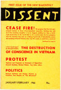 Books:Americana & American History, [Socialism] Dissent. A Bi-Monthly of Socialist Opinion.1966. Octavo. Original wrappers, a bit soiled and edgeworn. ...