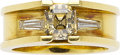 Estate Jewelry:Rings, Colored Diamond, Diamond, Gold Ring The ring f...
