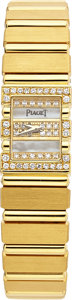Estate Jewelry:Watches, Piaget Lady's Diamond, Gold Polo Wristwatch. ...