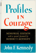 Books:Americana & American History, John F. Kennedy. Profiles in Courage. New York: Harper &Row, [1964]. Memorial edition. Publisher's cloth and origin...