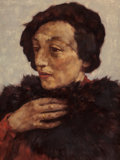 Paintings, LOTTE LASERSTEIN (German, 1898-1998). Portrait of Anna Karger, circa early 1930s. Oil on board. 15-1/2 x 11-1/2 inches (...