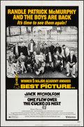 "Movie Posters:Academy Award Winners, One Flew Over the Cuckoo's Nest (United Artists, R-1978). One Sheet(27"" X 41""). Academy Award Winner Style.. ..."