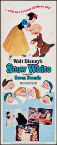 "Movie Posters:Animation, Snow White and the Seven Dwarfs (Buena Vista, R-1967). Insert (14""X 36""). Animation.. ..."