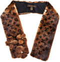 "Luxury Accessories:Accessories, Louis Vuitton Classic Monogram Mink Stole. PristineCondition. 4"" Width x 45"" Length. ..."