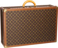 "Luxury Accessories:Travel/Trunks, Louis Vuitton Classic Monogram Canvas Alzer 70 Hardsided Trunk.Good to Very Good Condition. 28"" Width x 18"" Height x..."