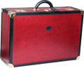 "Luxury Accessories:Travel/Trunks, Bally Red Leather Trunk. Good Condition. 27"" Width x 18""Height x 9"" Depth. ..."