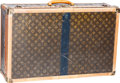 "Luxury Accessories:Travel/Trunks, Louis Vuitton Vintage Classic Monogram Canvas Hardsided Alzer 70Trunk. Fair Condition. 28"" Width x 18"" Height x 9""De..."
