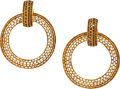 "Luxury Accessories:Accessories, Chanel Gold Hoop Earrings. Very Good Condition. 2"" Widthx 2"" Height. ..."