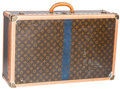 "Luxury Accessories:Travel/Trunks, Louis Vuitton Classic Monogram Canvas Hardsided Alzer 70 Trunk. Good Condition . 28"" Width x 18"" Height x 9"" Depth ..."