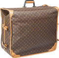 """Luxury Accessories:Travel/Trunks, Louis Vuitton Classic Monogram Canvas Folding Travel Case. Very Good Condition. 23"""" Width x 19"""" Height x 12"""" Depth. ..."""