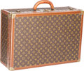 "Luxury Accessories:Travel/Trunks, Louis Vuitton Vintage Classic Monogram Canvas Alzar 65 Trunk.Good Condition. 24"" Width x 17.5"" Height x 9"" Depth...."