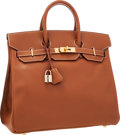 Luxury Accessories:Bags, Hermes 32cm Gold Courchevel Leather HAC Birkin Bag with GoldHardware. Very Good to Excellent Condition.1...