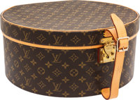 "Louis Vuitton Classic Monogram Canvas Botte Chapeaux Ronde Hatbox Very Good Condition 16"" Width"