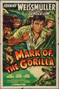 "Movie Posters:Adventure, Mark of the Gorilla (Columbia, 1950). One Sheet (27"" X 41""). Adventure.. ..."