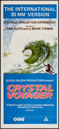 """Movie Posters:Documentary, Crystal Voyager (BEF Film Distributors, 1973). Australian Daybill (13.5"""" X 29.75""""). Surfing Documentary.. ..."""