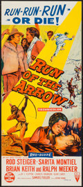 "Movie Posters:Western, Run of the Arrow (RKO, 1957). Australian Daybill (13"" X 30""). Western.. ..."
