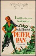 "Movie Posters:Animation, Peter Pan (RKO, 1953). Window Card (14"" X 22""). Animation.. ..."