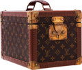 "Luxury Accessories:Travel/Trunks, Louis Vuitton Classic Monogram Canvas Hardsided Train Case. GoodCondition. 11.5"" Width x 8"" Height x 8"" Depth. ..."