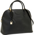 """Luxury Accessories:Bags, Hermes 37cm Black Ardennes Leather Bolide Bag with Gold Hardware.Very Good Condition . 14.5"""" Width x 10"""" Height x 5""""..."""