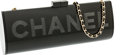 """Luxury Accessories:Bags, Chanel Black Perspex Long Clutch Bag with Shoulder Strap . VeryGood Condition . 11.5"""" Width x 4.5"""" Height x 2"""" Depth..."""