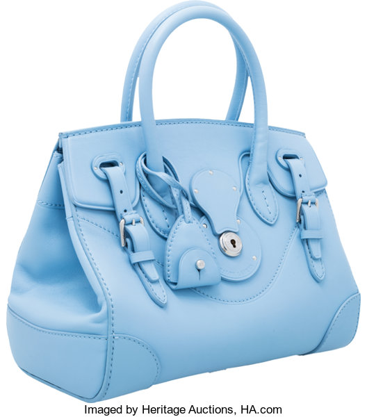 Ralph Lauren Light Blue Leather Small Ricky Bag with  49c49d789d0ea