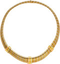 Estate Jewelry:Necklaces, Tri-Color Gold Necklace, Cartier. ...